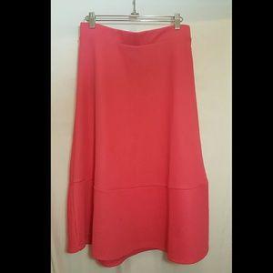 H&M Pink Midi Skirt